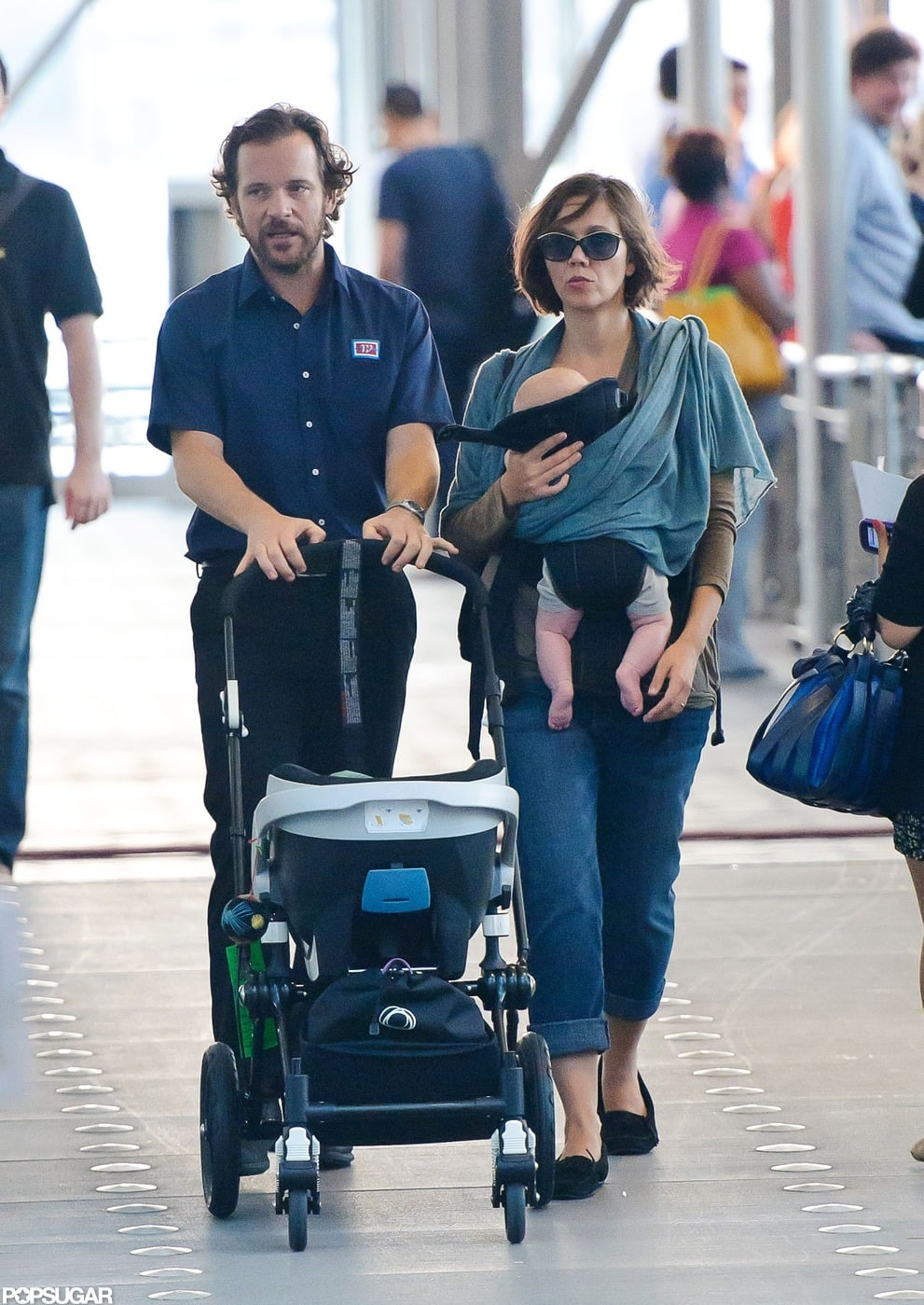 Peter Sarsgaard hung out with Maggie Gyllenhaal and his girls, Ramona and Gloria, on the set of Very Good Girls in NYC.
