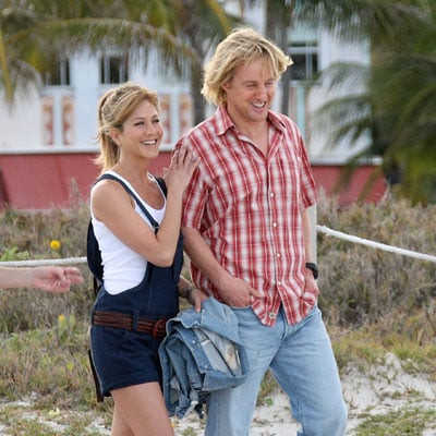 Jennifer Aniston and Owen Wilson on the Set of Marley and Me 2008-04-19 11:18:35
