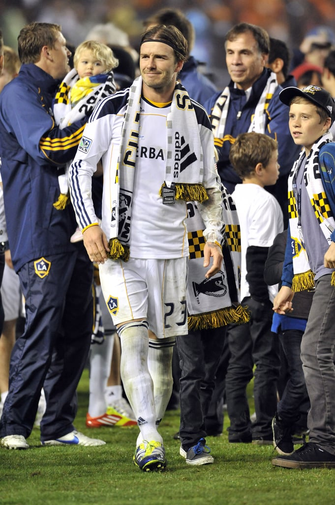 David Beckham took a victory lap on the field.
