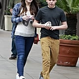 Brooklyn Beckham and a female friend went to Pinkberry in LA.