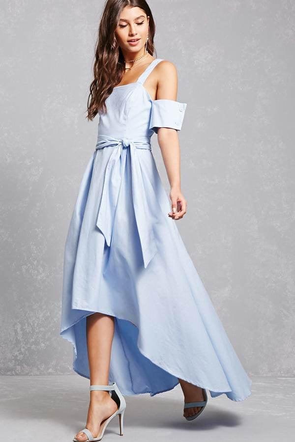 Forever 21 Open-Shoulder High-Low Dress
