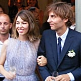 In Bernalda, Italy, Sofia Coppola married Thomas Mars wearing a pretty, pastel Azzedine Alaïa dress in August 2011.