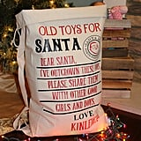 Make room for Santa's delivery by collecting toys to give away.