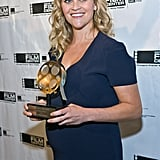 Pregnant Reese Witherspoon Accepts Honors and Talks Baby