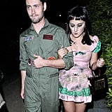 The daughter of the late Robin Williams, Zelda Williams, donned a pink dress and black makeup, while her date channeled Tom Cruise in Top Gun in LA in 2014.