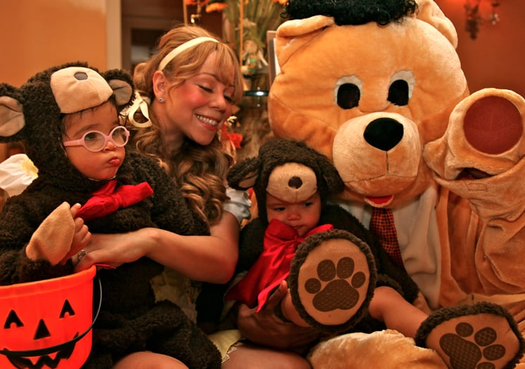 Mariah Carey and Nick Cannon dressed their adorable twin, Moroccan Cannon and Monroe Cannon, in bear costumes for Halloween. Source: Dembabies.com