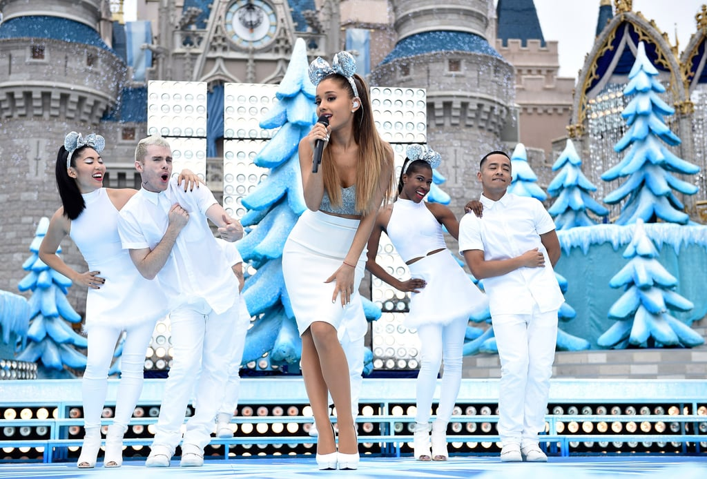 Ariana Grande Took the Stage at Disney's Frozen Celebration