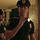 Alex Pettyfer and Channing Tatum dress up as cops in the film.