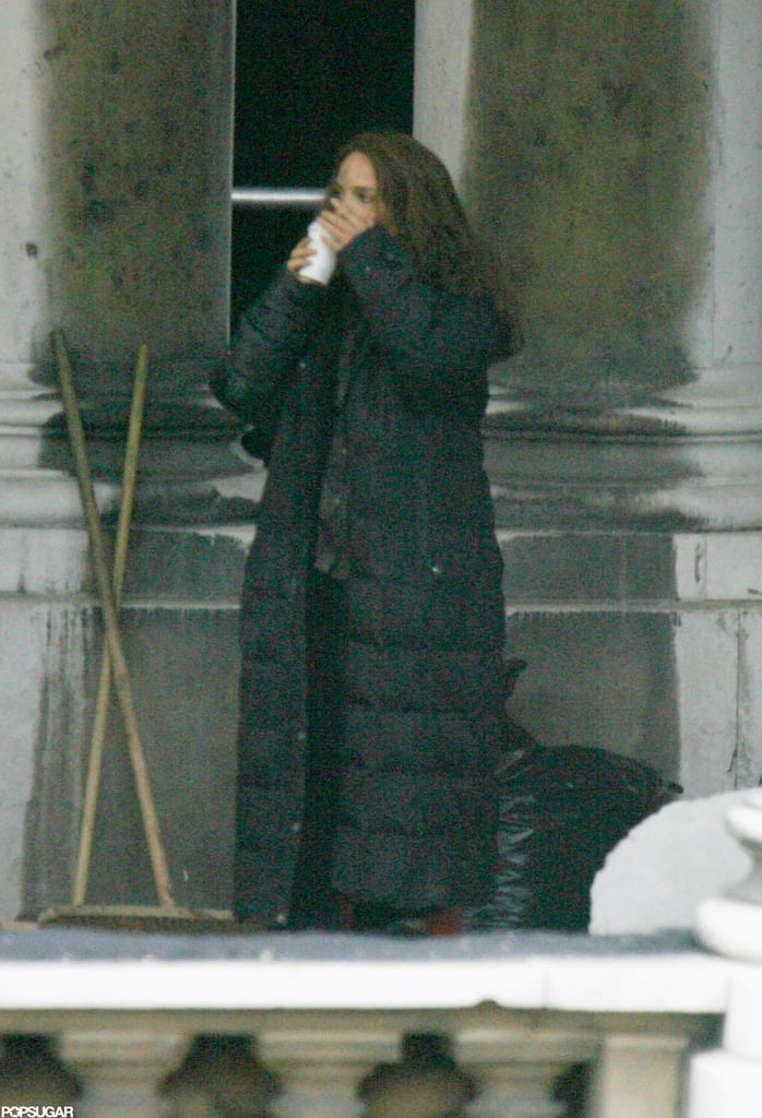 Natalie Portman was on set in London.