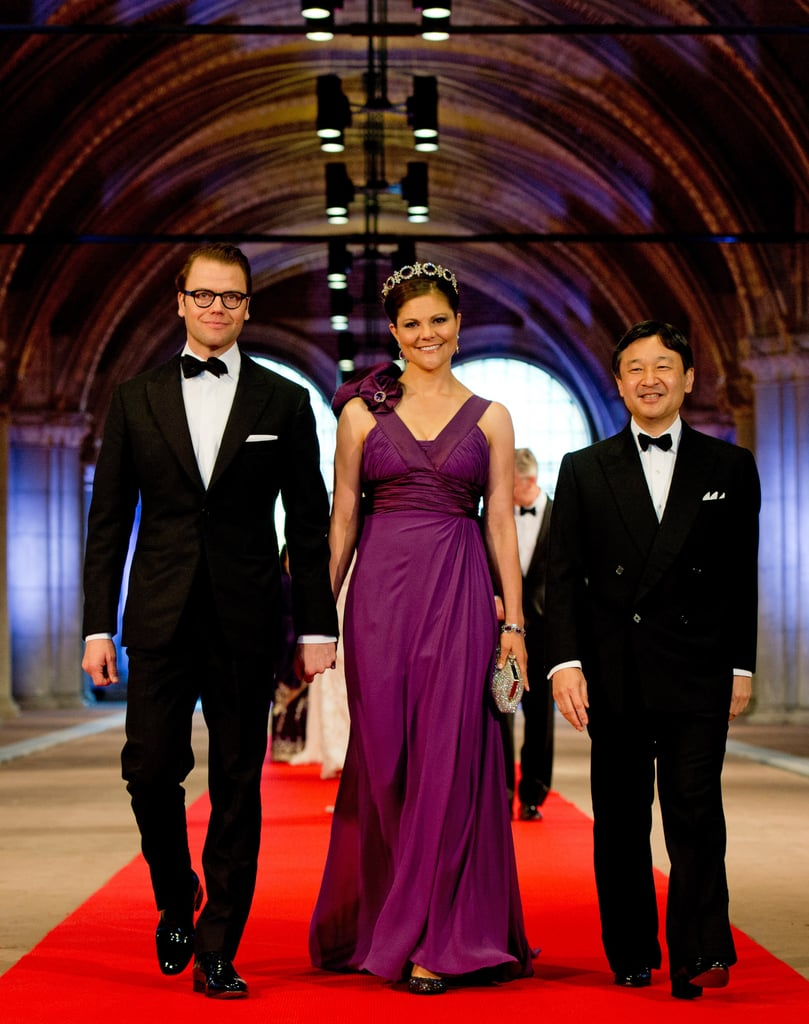 She Pulled Off This Unexpected Plum Gown With Ease