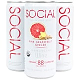 Social Sparkling Wine Pink Grapefruit Ginger Four-Pack