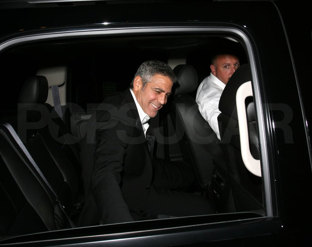 George Clooney hosted an Oscars party.