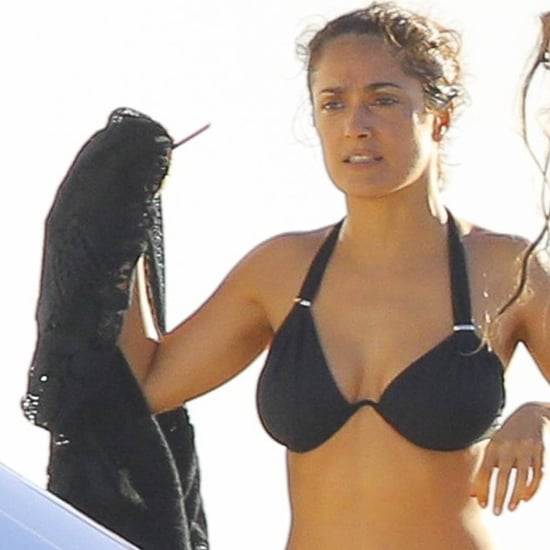 Salma Hayek in a Bikini in St. Barts 2014 | Pictures