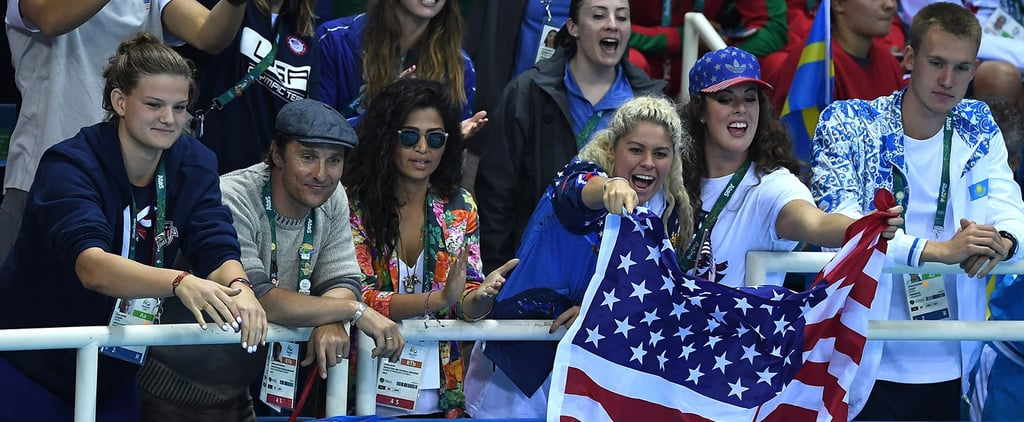 Matthew McConaughey Brings a Date For Round 2 of His Olympic Adventures