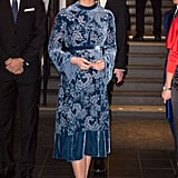 Kate Middleton's Blue Velvet Erdem Dress