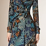 Burberry Prorsum Floral Cotton Gabardine Trench Coat ($2,995)