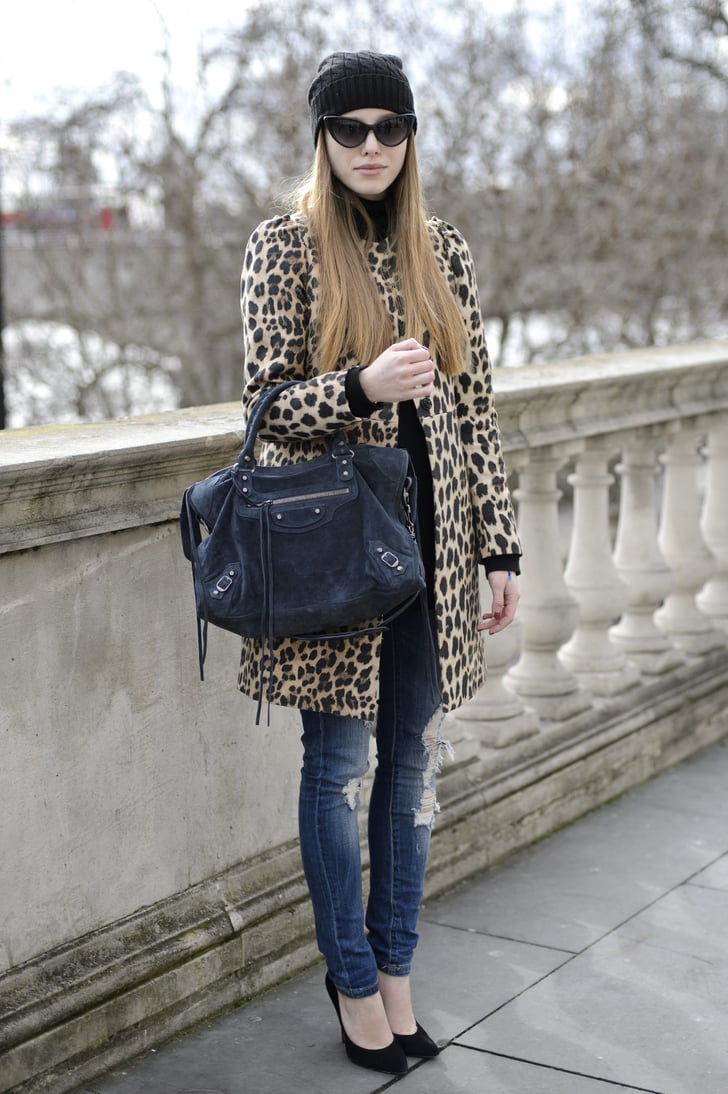 A Wild Print Topper Became The Focal Point Of This Cool Girl Mix Street Style At London