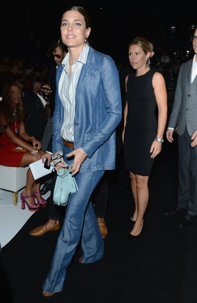 Charlotte Casiraghi is a girl after our own stylish heart. This denim-on-denim look, spotted at Gucci, is perfect.
