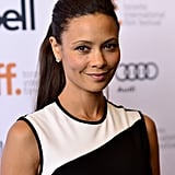 Ponytails can be ultraglamorous, as shown by Thandie Newton at the Half of a Yellow Sun premiere.