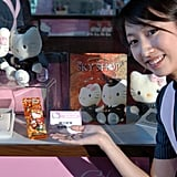 There are many exclusive Hello Kitty souvenirs available through EVA Air, including watches and plush toys.