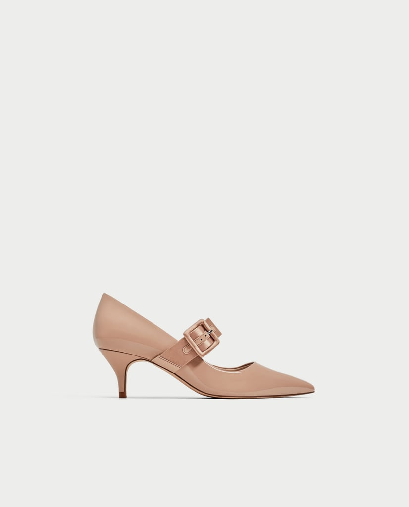 Zara High Heel Court Shoes