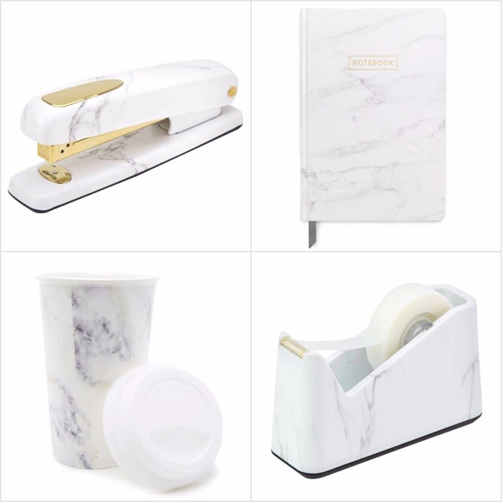 Marble Desk Accessories Popsugar Smart Living