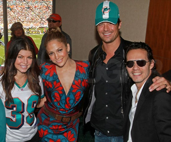 Slide Photo of Josh Duhamel and Fergie at Miami Dolphins Game