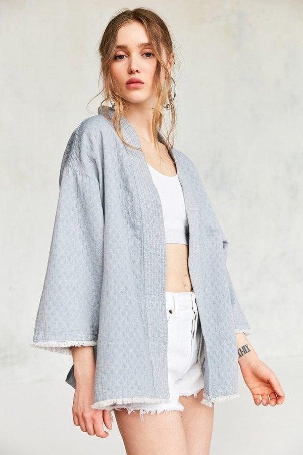 Kimchi & Blue Bella Chambray Robe Jacket