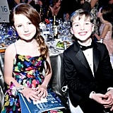 Darby Camp and Iain Armitage at the 2020 SAG Awards