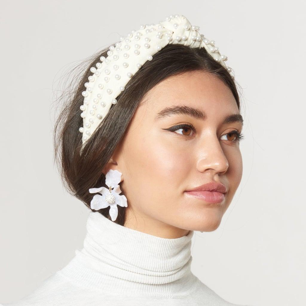 Alice Bands: Lele Sadoughi Ivory Woven Pearl Headband