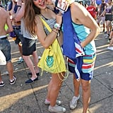 A young pair got kissy at the Ultra Music Festival in Miami.