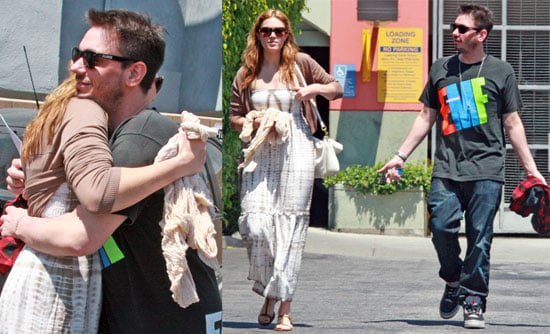 Friendly Exes Mandy Moore and DJ AM Out to Lunch in LA