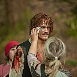 Jamie Fraser's season four makeup is making us nervous, to be honest.