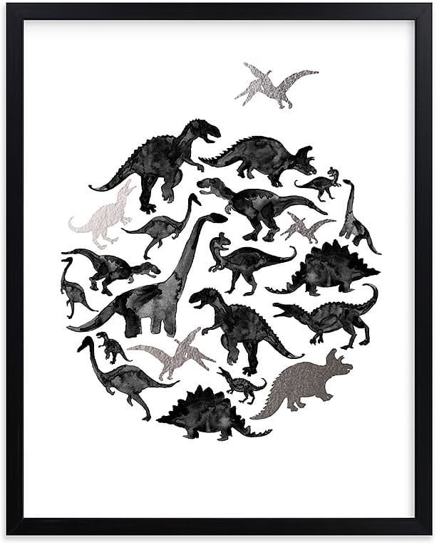Pottery Barn Kids Jurassic Circle Wall Art by Minted