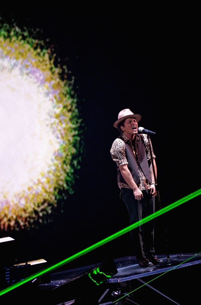 "Bruno Mars performed his song ""Gorilla."""