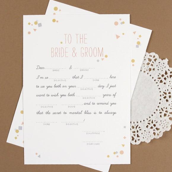 Wedding Vow Mad Libs Printable: DIY Wedding And Ceremony Decor
