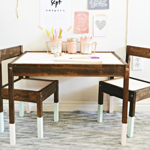 A Rustic, Elegant Ikea Latt Table Set Makeover
