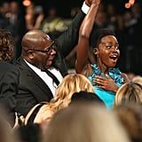 Steve McQueen Held Lupita Nyong's Hand Up For Her