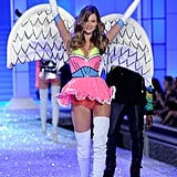 Behati Prinsloo put her hands up on the catwalk.
