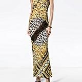 Versace Silk Baroque and Leopard Print Dress