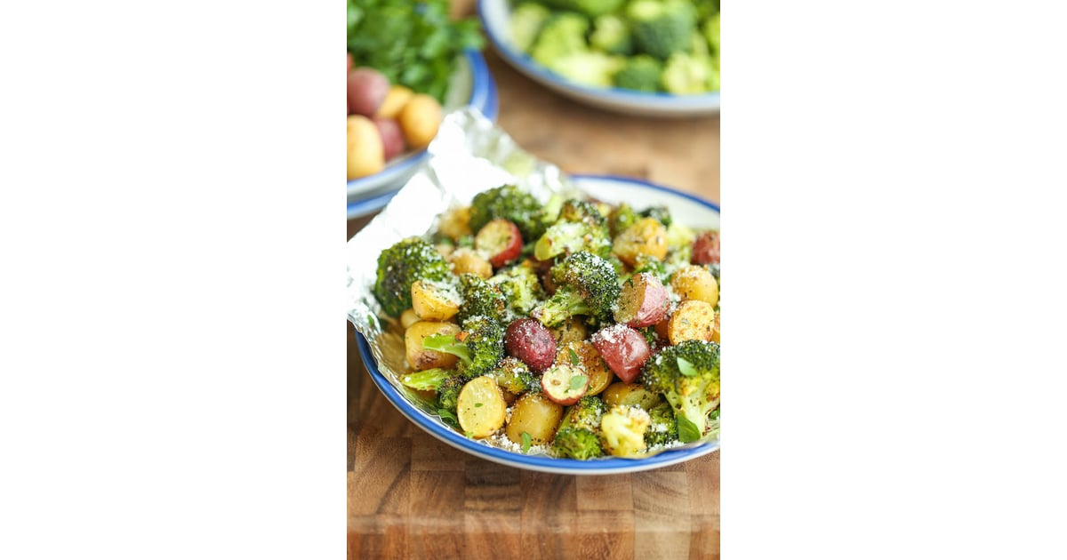Garlic-Parmesan Broccoli and Potatoes in Foil 13 Recipes Cooked