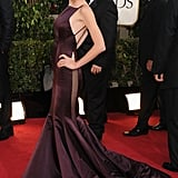 Taylor Swift, who was nominated for Best Original Song, wore a deep plum gown for the 2013 Golden Globes.