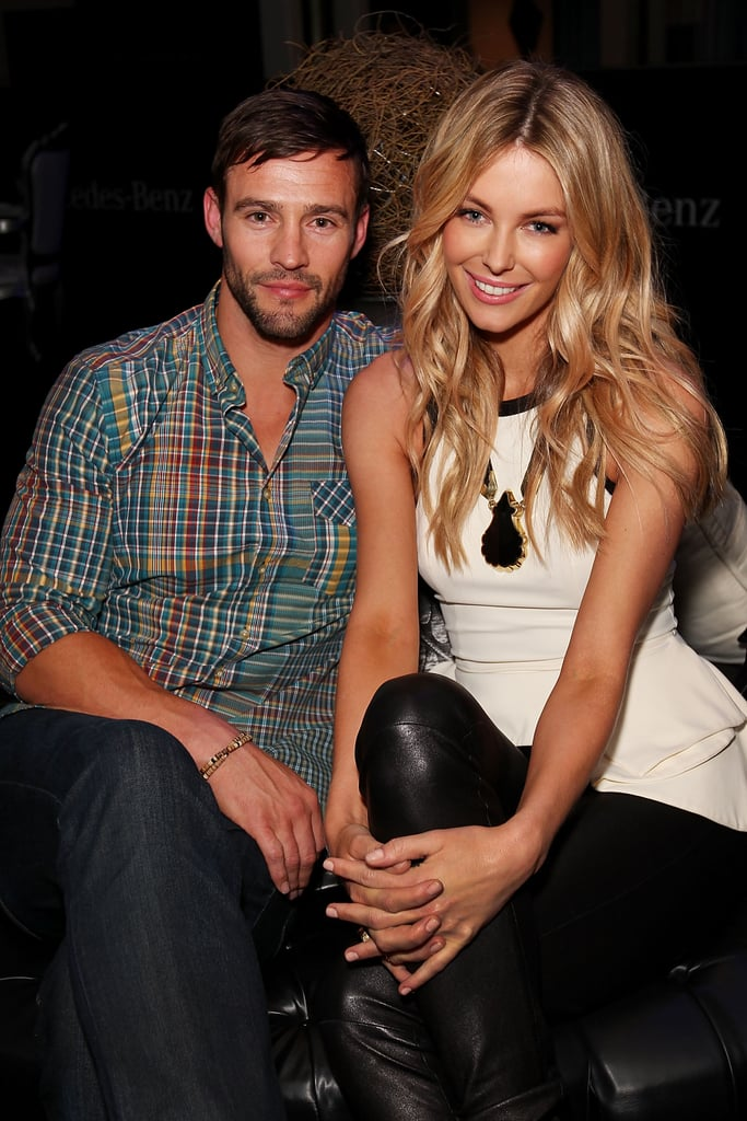 Kris Smith and Jennifer Hawkins backstage