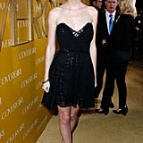 Swift made a case for monochrome at Covergirl's 50th anniversary celebration in West Hollywood.
