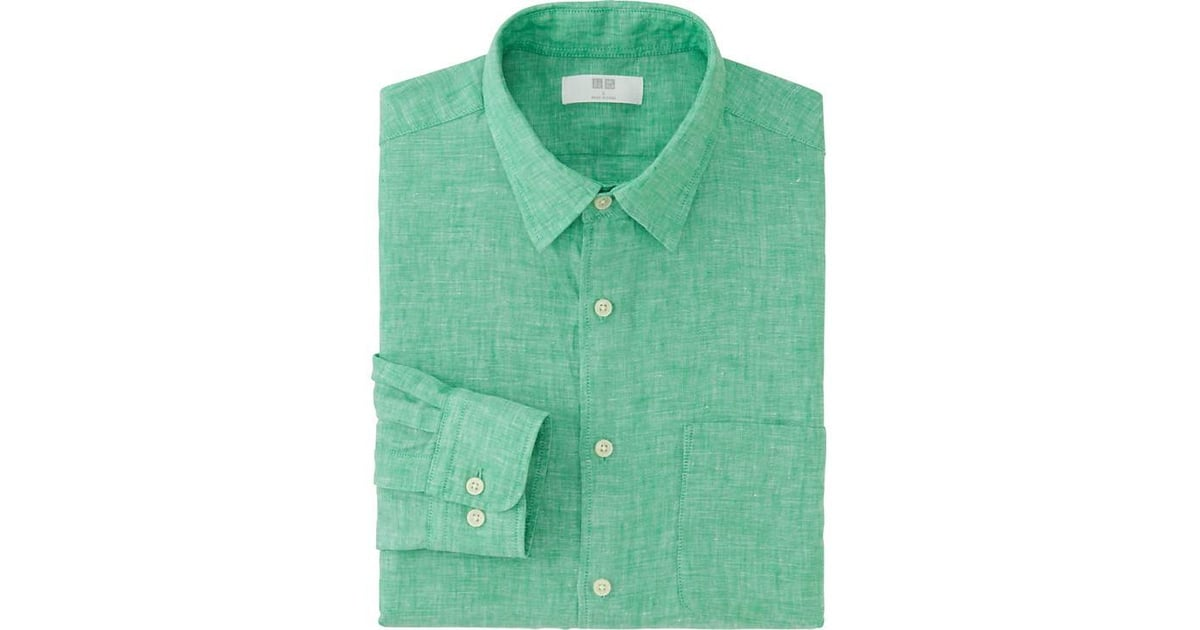 Uniqlo Men Premium Linen Long Sleeve Gifts For Dad Under