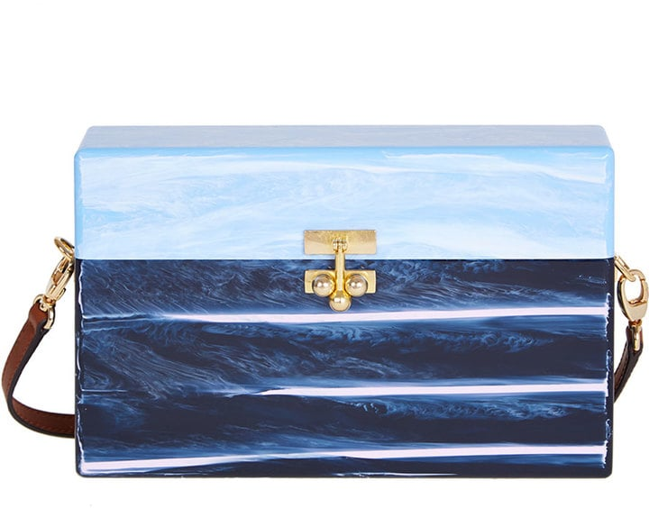 Edie Parker Blue Marble Trunk Bag ($1,795)