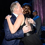 Robert De Niro gave Jennifer Lawrence a congratulatory kiss at the Critics' Choice Awards.