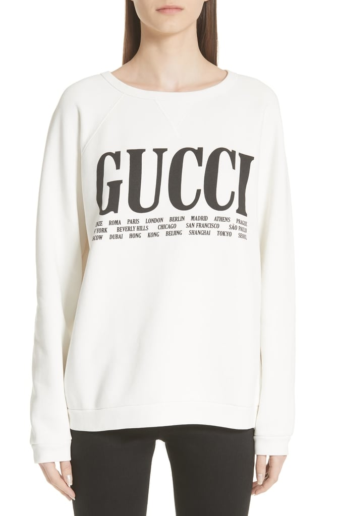 Gucci Felted Cotton Jersey Sweatshirt