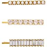 Lelet NY Set of 3 Crystal Bobby Pins