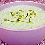 Chilled Cucumber Soup With Hemp Oil